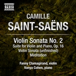 SAINT-SAENS, C.: Violin and Piano Music, Vol. 2 (Clamagirand, V. Cohen)