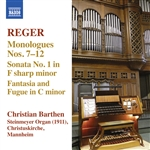 REGER, M.: Organ Works, Vol. 13 - Monologe: Nos. 7-12 / Organ Sonata No. 1 / Fantasia and Fugue in C minor (Barthen)
