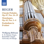 REGER, M.: Organ Works, Vol. 15 - Monologe (excerpts) / 52 Easy Chorale Preludes: Nos. 16-35 / Postludium in D minor, WoO 4, No. 12 (Rübsam)
