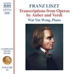 Liszt Complete Piano Music, Vol. 52: Transcriptions from Operas by Auber & Verdi