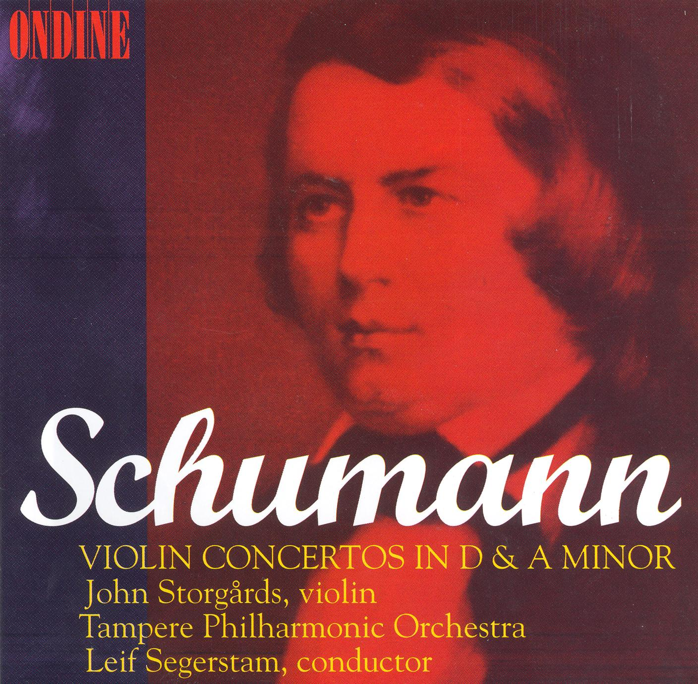 SCHUMANN, R.: Violin Concerto, Op. posth. /  Cello Concerto, 129 (arr. for violin and orchestra) (Storgards, Tampere Philharmonic)