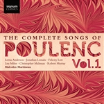 The Complete Songs of Poulenc, Vol 1