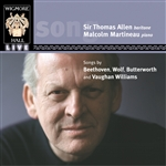 Songs by Beethoven, Wolf, Butterworth, Vaughan Williams, Bridge
