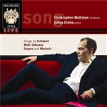 Songs by Schubert, Wolf, Debussy, Duparc and Warlock