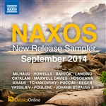 Naxos September 2014 New Release Sampler