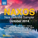 Naxos October 2014 New Release Sampler